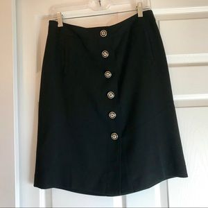 NWT Ann Taylor Wool Gaberdine Skirt with Buttons